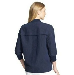 Vince Camuto Linen Asymetrical Zip Jacket XL